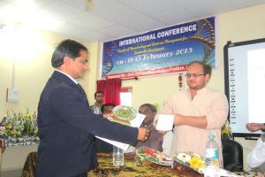 International Conference in Aron best paper award 2013